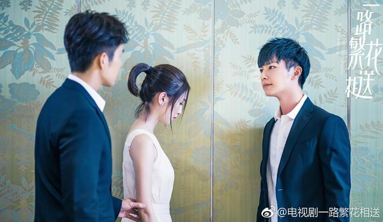 Những hình ảnh cho thấy nam nhân vật thứ ba có lẽ sẽ là tình địch của Chung Hán Lương trong Con đường đưa tiễn đầy hoa.