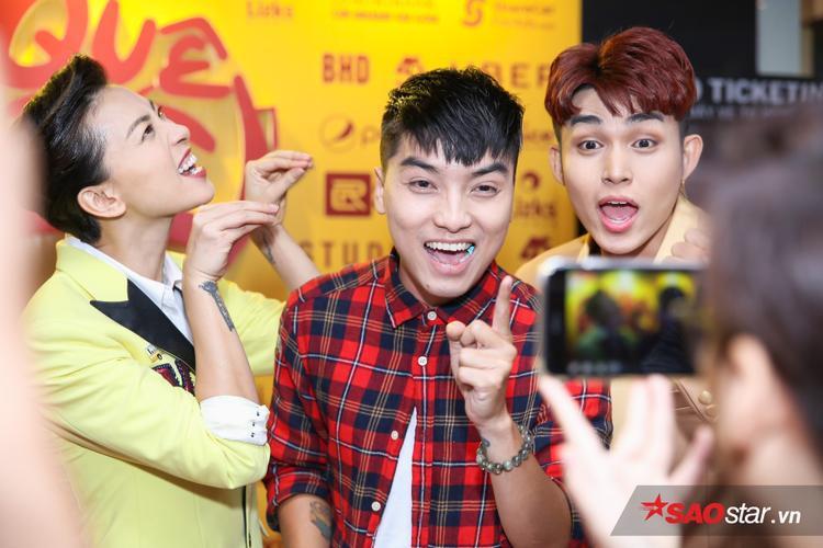 Ngọc Trai cùng Ngô Thanh Vân và Jun Phạm bày trò nhắng nhít.