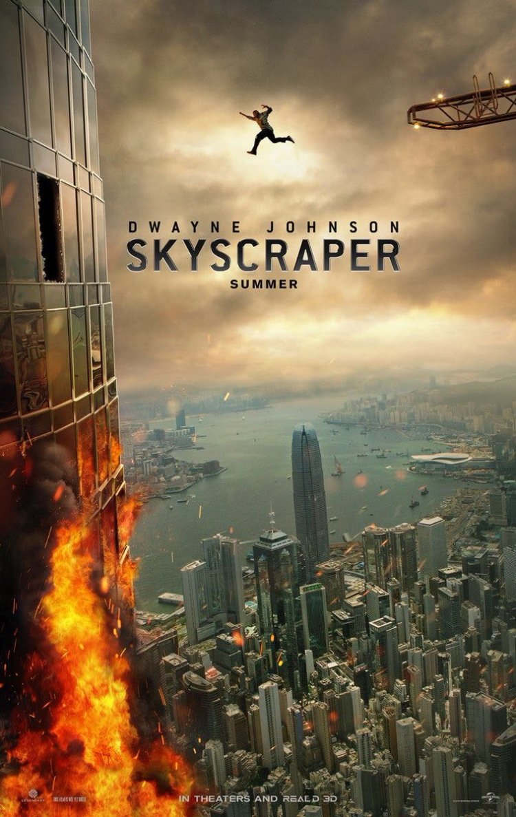 Cư dân mạng chế giễu sự vô lý trong cú nhảy của The Rock trên poster phim Skyscraper