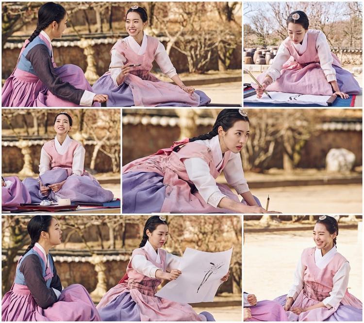 Jin Se-Yeon trên phim trường.