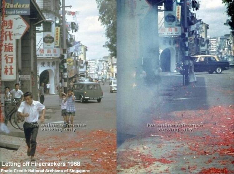 Khắp các con phố ngập tràn sắc đỏ của pháo.