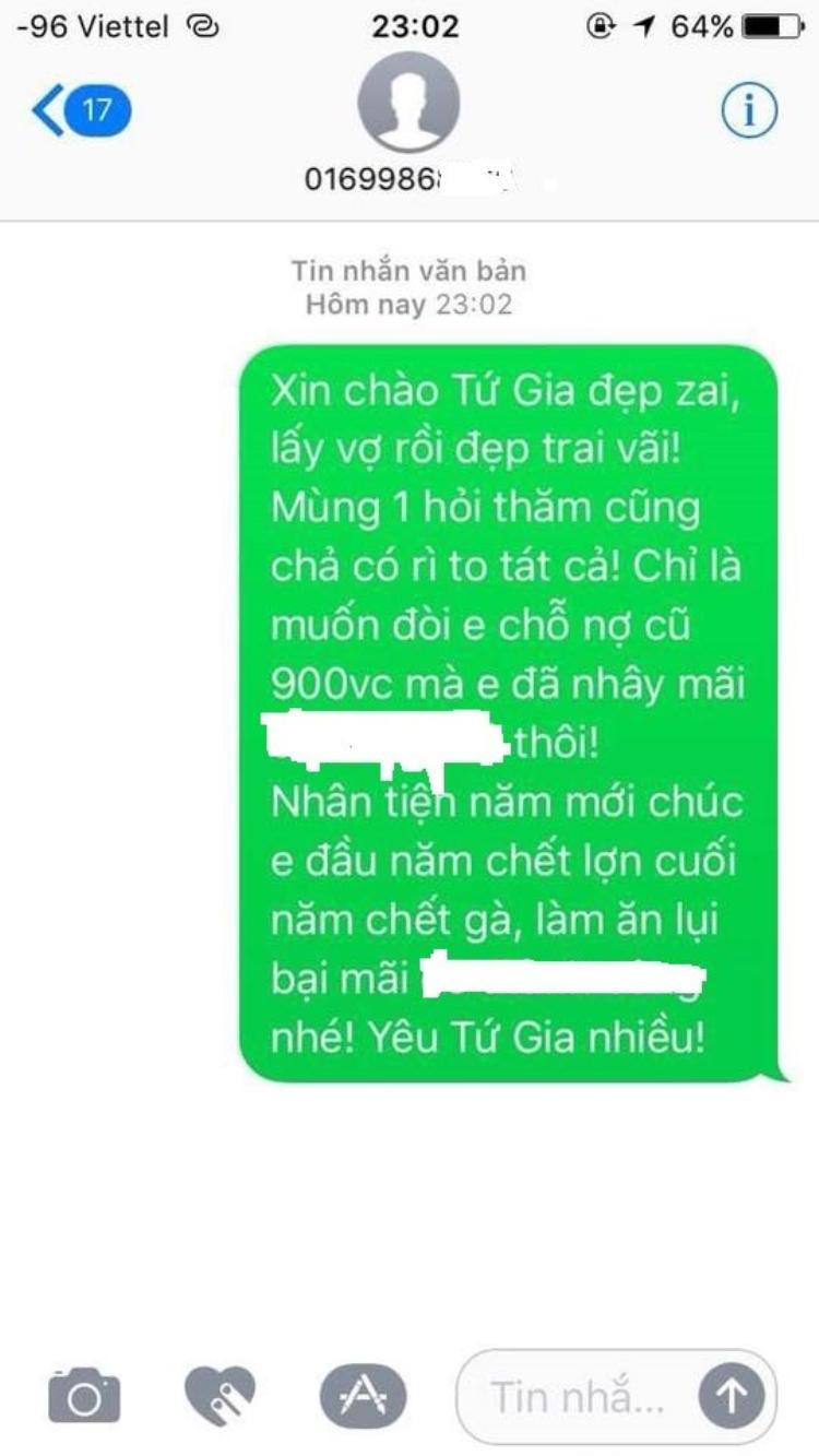 """Với những con nợ """"cù nhây"""" và lì lợm, bạn Nguyễn Việt Linh cũng có đôi lời gửi gắm dịp đầu xuân năm mới."""