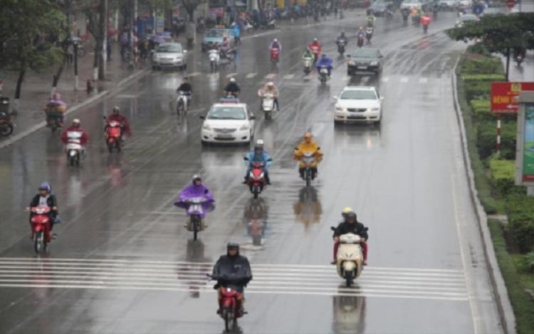 Trong ngày 19/02 (mùng 4 Tết), cả nước đều có mưa nhỏ rải rác.