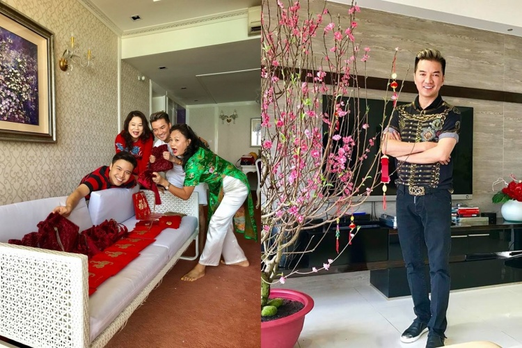 """Ca sĩ Đàm Vĩnh Hưng có những ngày Tết vui vẻ bên người thân và bạn bè. Tuy vậy, """"Ông hoàng nhạc Việt"""" bật mí sẽ sớm tái ngộ khán giả bằng những show diễn đầu năm mới."""
