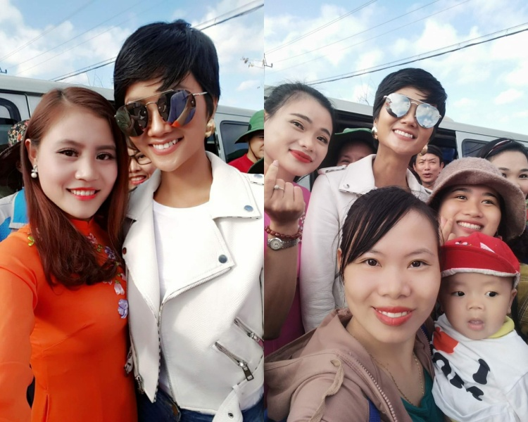 Dưới phần bình luận, các fan thi nhau khoe ảnh chụp cùng H'Hen Niê và khen ngợi sự rạng rỡ, thân thiện của tân Hoa hậu.