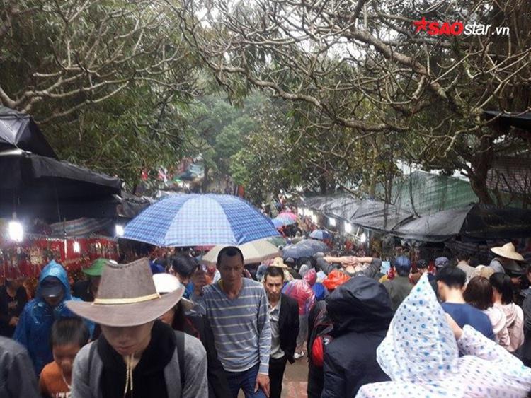 Từ lúc tinh mơ đến khi trời sáng, chùa Hương vẫn luôn ở trong tình trạng đông nghịt người.