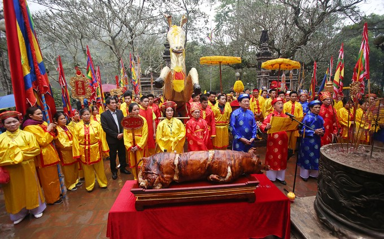 7h ngày 21/2 (mùng 6 Tết), Lễ hội Gióng khai mạc tại Khu di tích lịch sử đền Sóc, huyện Sóc Sơn (Hà Nội). Ảnh: VnExpress