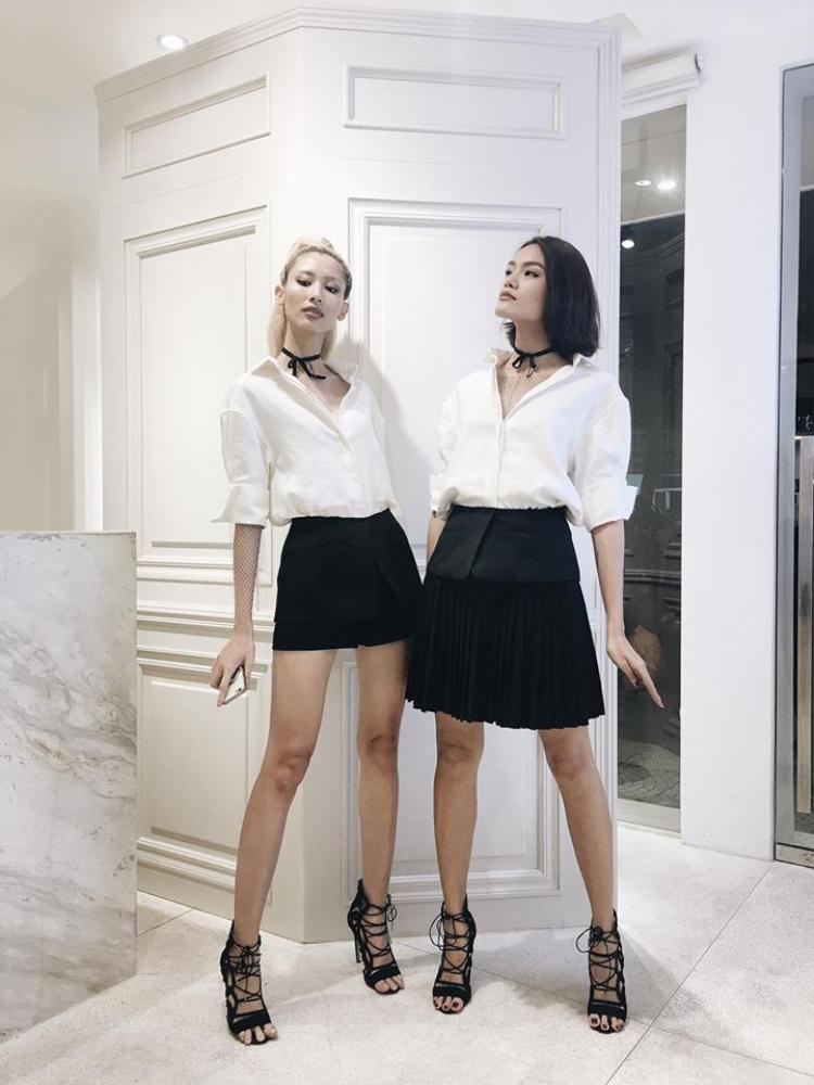 Hằng Nguyễn, Thanh Thảo là 2 người mẫu có tiếng của Sài thành. Cả hai chơi thân với nhau và thường xuyên mặc đồ đôi.