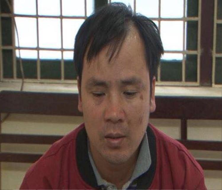 Đối tượng Nguyễn Văn Phương tại cơ quan điều tra.