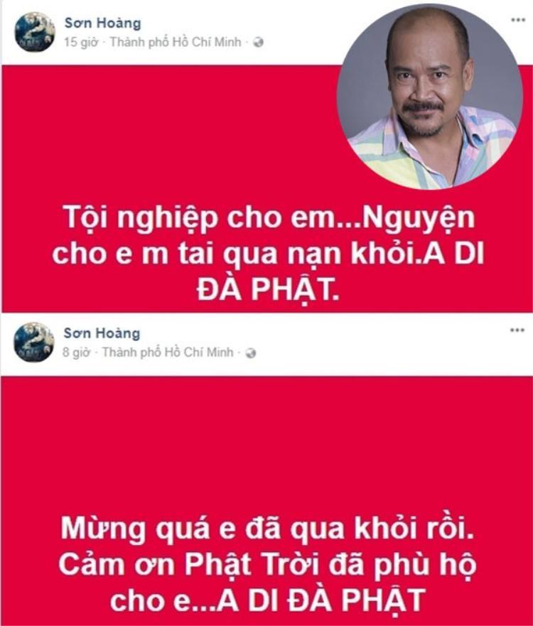 Diễn viên hài Hoàng Sơn khá lo lắng cho đồng nghiệp.
