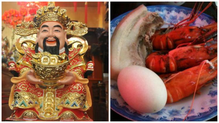 Một bộ tam sên gồm: 1 miếng thịt ba rọi, 1 quả trứng , 1 con tôm ( hay cua ). Ảnh minh họa.
