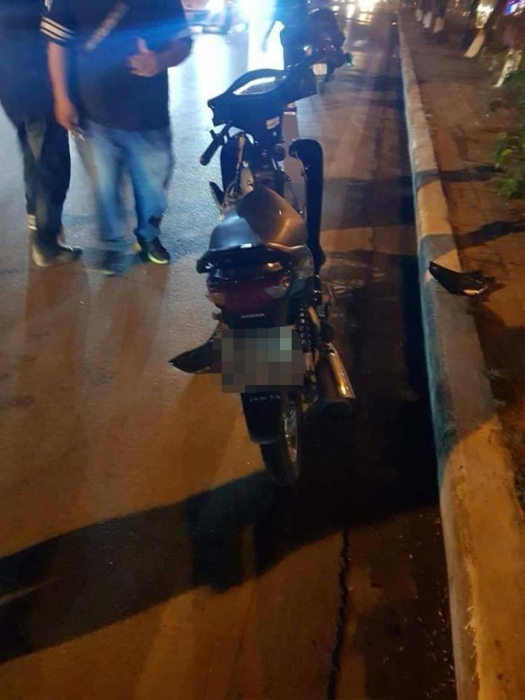 Chiếc xe máy gây tai nạn.