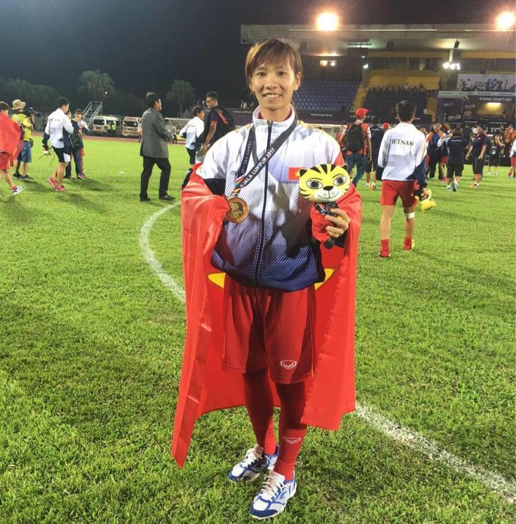 Thùy Trang đã giành HCV SEA Games 29 cùng ĐTVN.