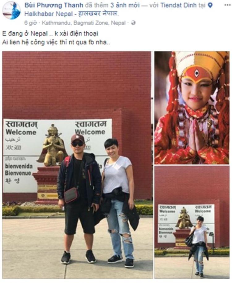 """Trước đó, """"chị Chanh"""" cũng hào hứng """"check-in"""" khi vừa tới đất Phật."""