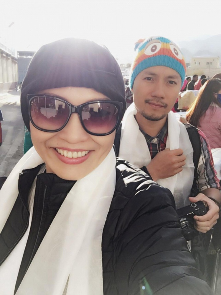 Phương Thanh tham gia khóa tu ngắn hạn cùng Đinh Tiến Đạt.