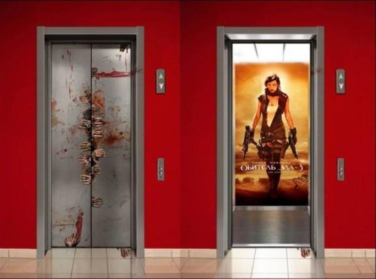 Quảng cáo này được thực hiện khi bộ phim Vùng đất quỷ dữ được công chiếu vào năm 2007 tại Kiev, Ukraine.
