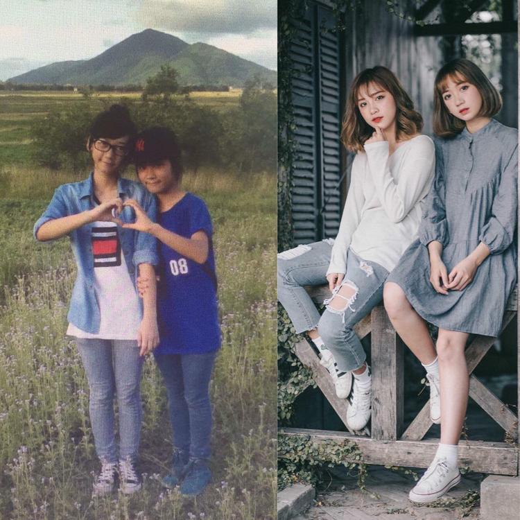 Chơi thân với nhau từ bé, lớn lên hai cô gái có ngoại hình như chị em sinh đôi.