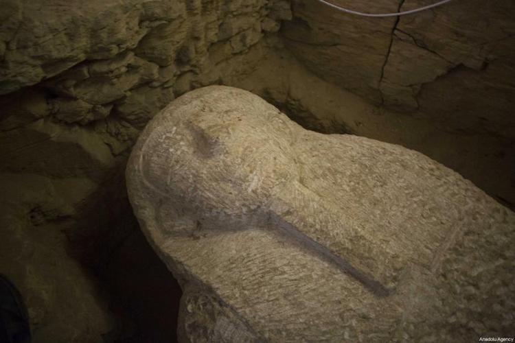 Một quan tài Pharaoh khác được khai quật. Ảnh: Middleeastmonitor