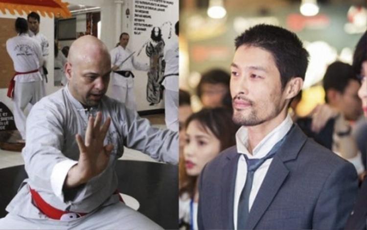 Võ sư Flores và nam diễn viên Johnny Trí Nguyễn.