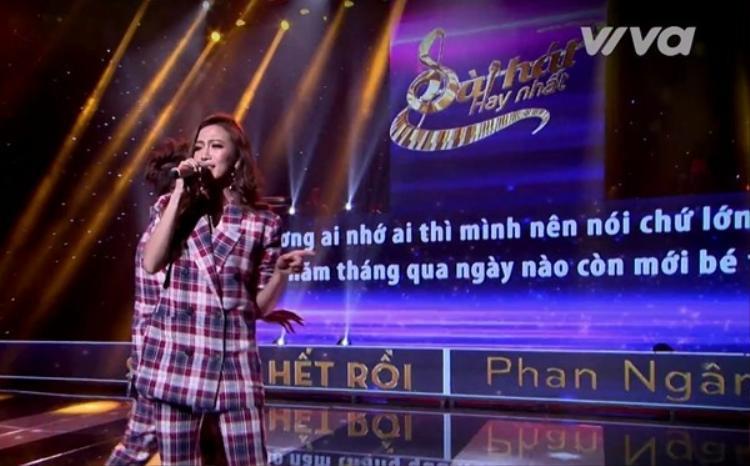 Vừa bắt đầu tham gia ca hát, Phan Ngân đã quyết định thử sức mình với sân chơiBài hát hay nhất.
