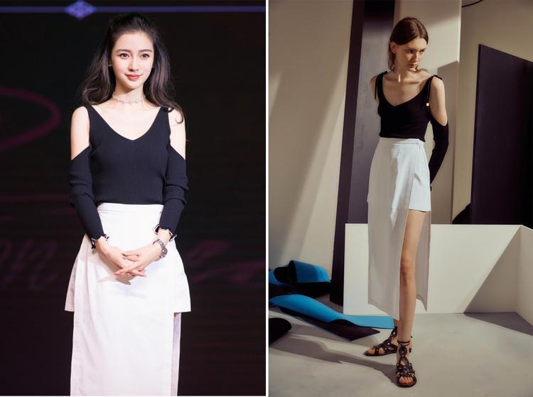 Sở hữu làn da trắng sáng cùng vóc dáng nõn nà, trong những trang phục đơn giản nhất nữ diễn viên đình đám gốc Trung vẫn luôn tỏa sáng.