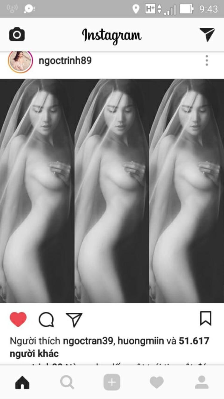 Ngọc Trinh gây sốt cộng đồng mạng với bộ ảnh nude đầu năm Mậu Tuất.