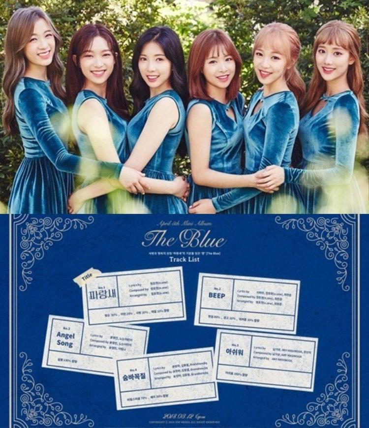 Sau My Story - dự án ra mắt nhóm với 2 thành viên Naeun và Jinsol vào 7/2 vừa qua, girlgroup 3 năm tuổi April sẽ trở lại đầy đủ với sản phẩm The Blue được lên kệ ngày 12/3.