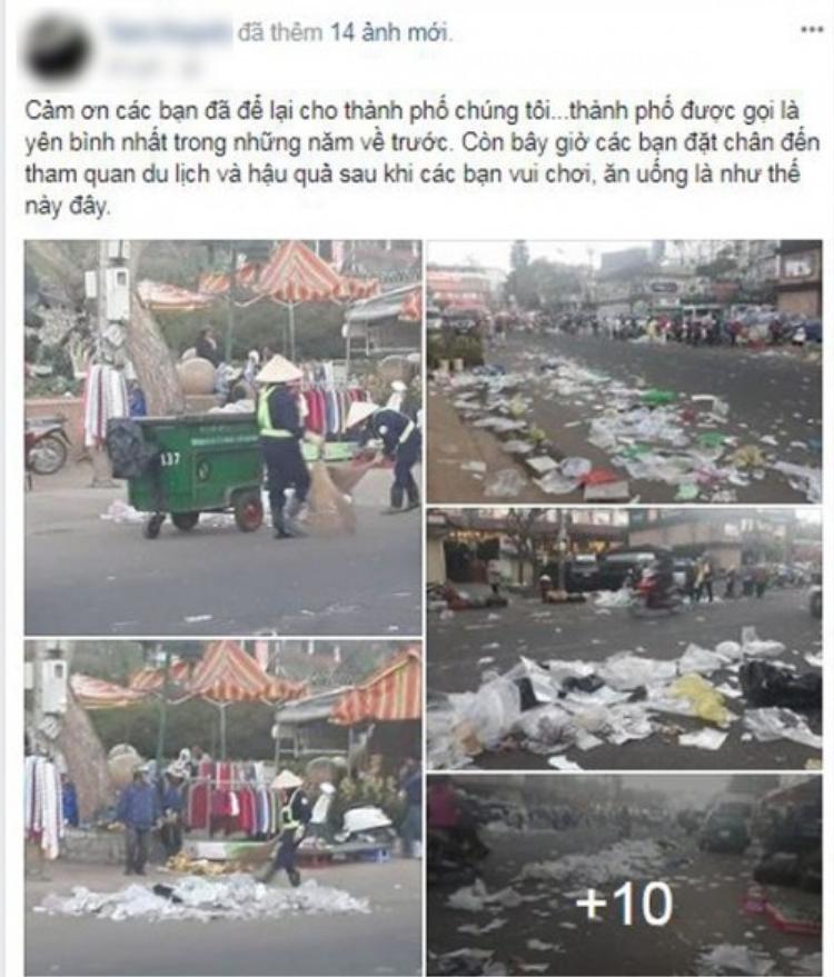 Cảnh tượng rác ngập thành phố khiến nhiều người bức xúc.