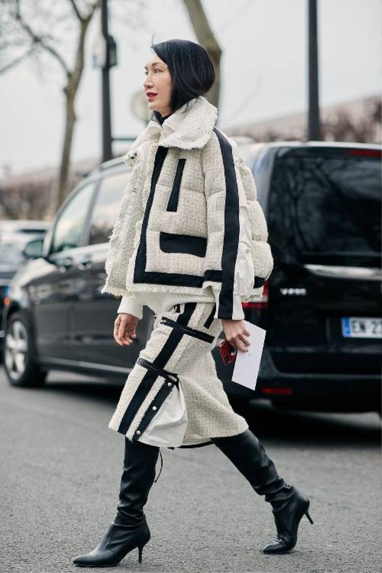 Ngoài các kiểu áo dáng dài, măng tô chần bông với tông màu trung tính cũng rất được yêu thích.