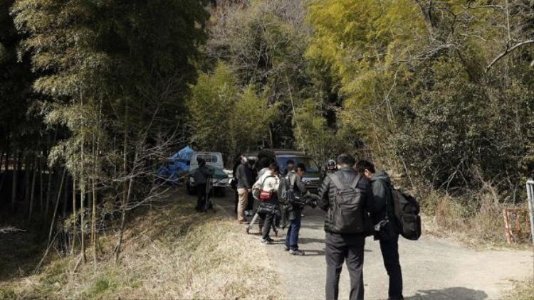 Khu vực quanh hiện trường, nơi cảnh sát phát hiện nhiều mảnh thi thể của người phụ nữ nghi bị sát hại ở Osaka. Ảnh: AP
