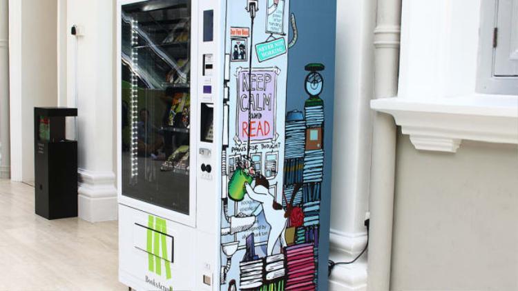 Máy bán sách ở Singapore