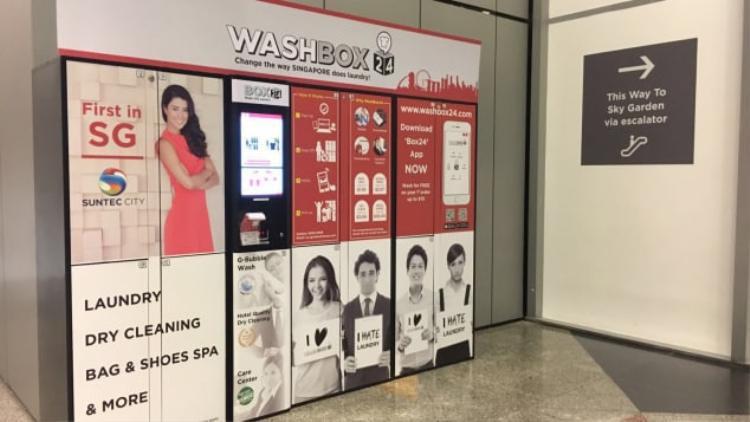 Ở Singapore, dịch vụ giặt là cũng có thể tự động hóa