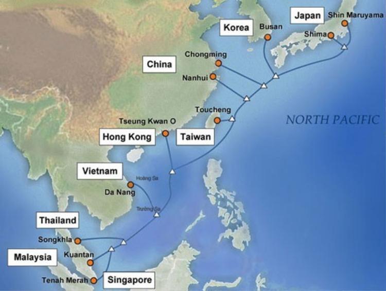 Cáp quang biển APG gặp sự cố, Internet Việt Nam đi quốc tế bị ảnh hưởng