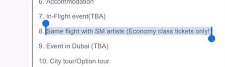 Những người mua vé tham gia sẽ được đi chung chuyến bay với dàn sao SM.