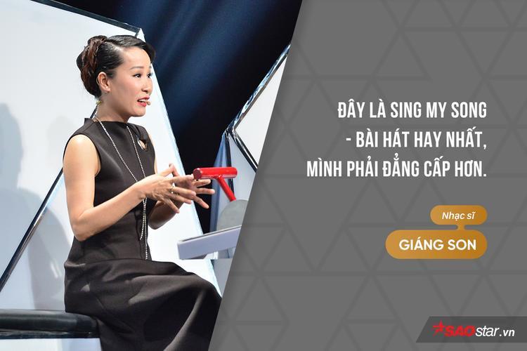 Khi HLV Hồ Hoài Anh mang ca khúc nổi tiếng trên mạng xã hội Buồn của anh ra so sánh, đây là câu trả lời của HLV Giáng Son.