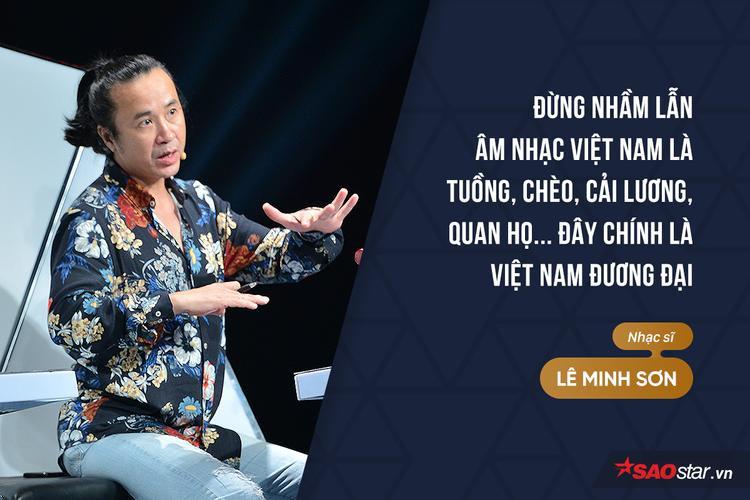 HLV Lê Minh Sơn bày tỏ sự ngưỡng mộ trước sáng tác của nhóm nhạc Lộn Xộn.