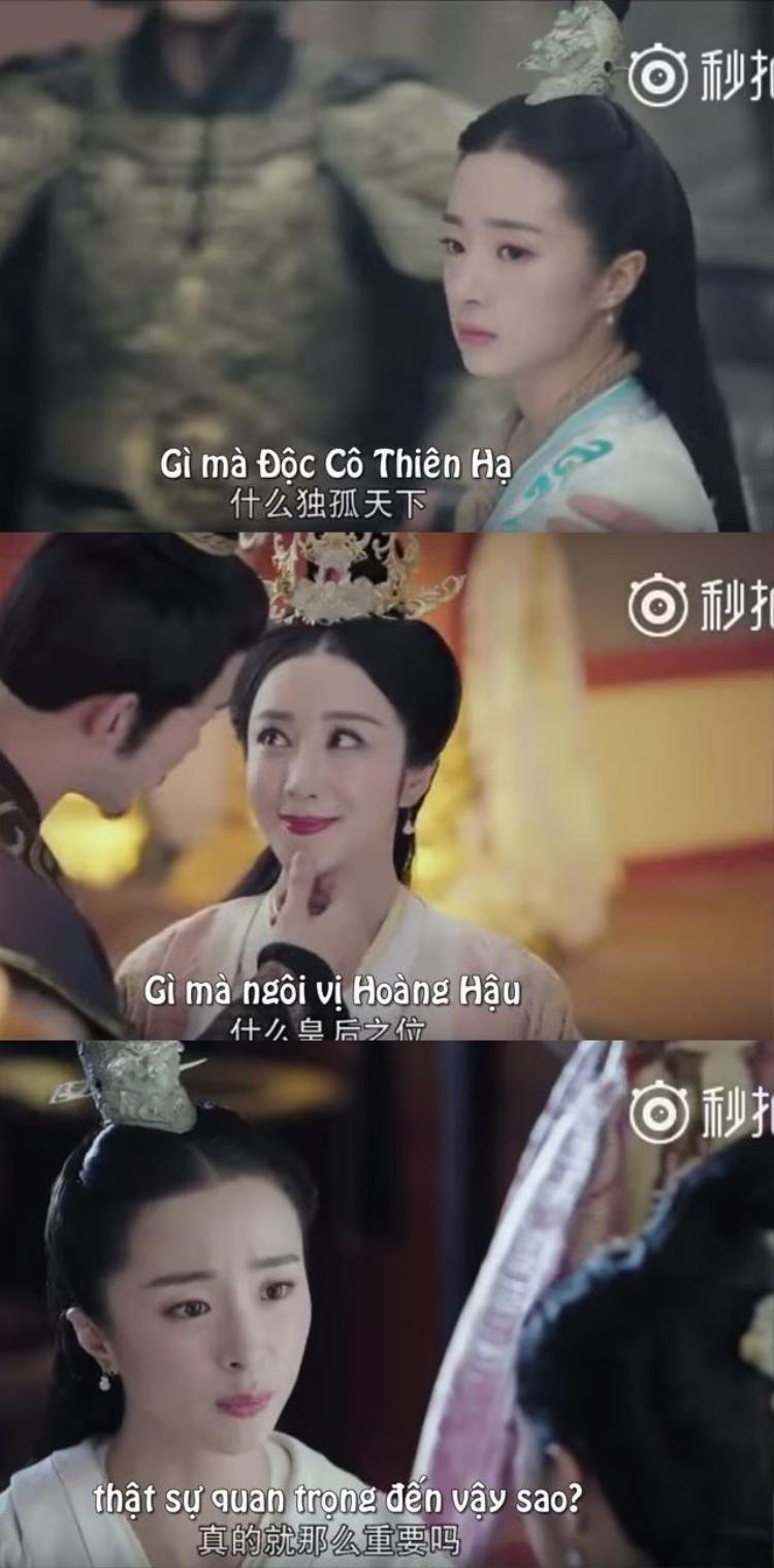 Ấu nữ Độc Cô Già La ( Hồ Băng Khanh)một lòng nghĩ gả cho người mình yêu, không muốn tham dự vào tranh quyền đoạt vị