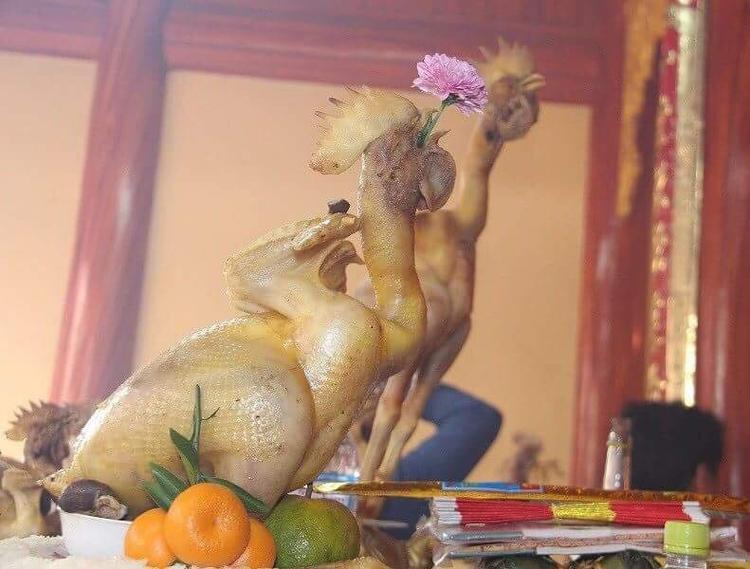 Thần thái của phi đội gà bay cúng rằm tháng Giêng khiến dân mạng phục sát đất