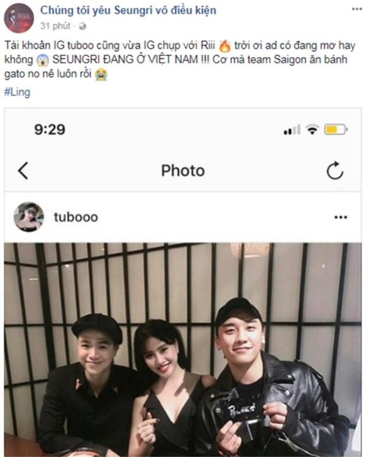 """Fan Việt """"nhốn nháo"""" vì sự xuất hiện của Seung Ri tại Hà Nội."""