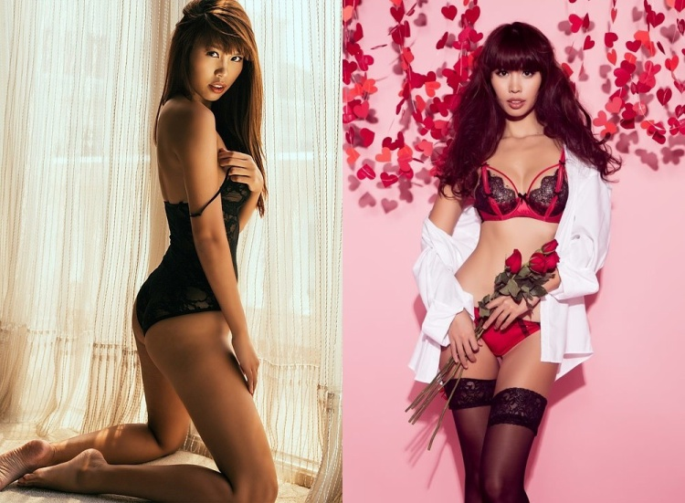 Hà Anh là chân dài quen mặt trong các bộ ảnh thời trang nội y.