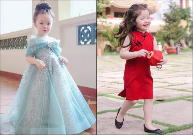 """Công chúa của Elly Trần đã trở thành cô bé 4 tuổi hiếu động và xinh đẹp. Cadie Mộc Trà hiện nay vẫn là một trong những em bé """"hot"""" nhất trên mạng xã hội."""