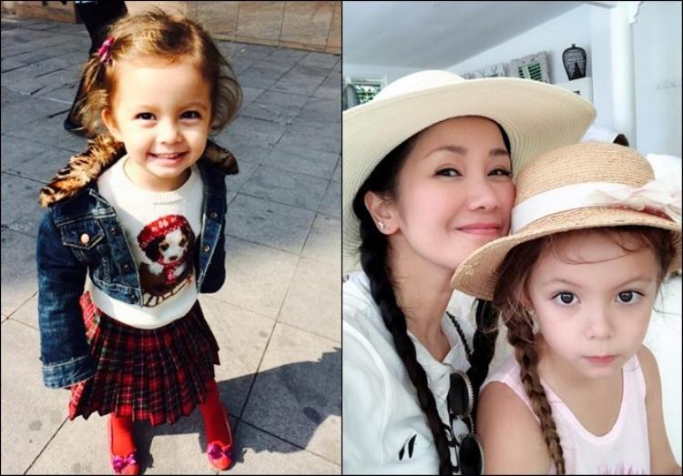 """Cô Tép nhà diva Hồng Nhung vừa tròn 6 tuổi, vốn được yêu mến bởi vẻ lai Tây đáng yêu từ khi còn bé thì nay những đường nét càng thêm sắc sảo lại khiến trái tim nhiều người hâm mộ """"điêu đứng""""."""