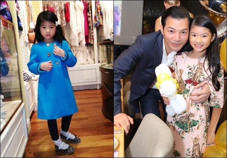Công chúa của Trần Bảo Sơn - Trương Ngọc Ánh vừa tròn 10 tuổi, thừa hưởng gần như trọn vẹn vẻ đẹp bố mẹ. Devon được nhiều người nhận xét là cô gái hóm hỉnh và nhanh nhẹn.