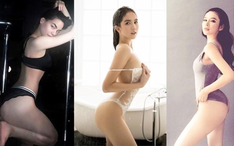 Bộ ba Hồ Ngọc Hà, Ngọc Trinh, Angela Phương Trinh đang gây sốt trong thời gian qua vì ảnh nóng bỏng.