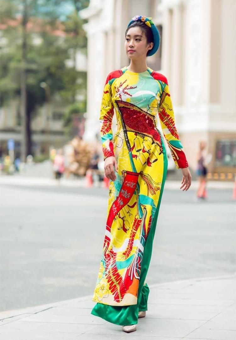 Đại sứ Lễ hội áo dài 2 năm liền, Đỗ Mỹ Linh diện áo dài quả khó ai sánh bằng!