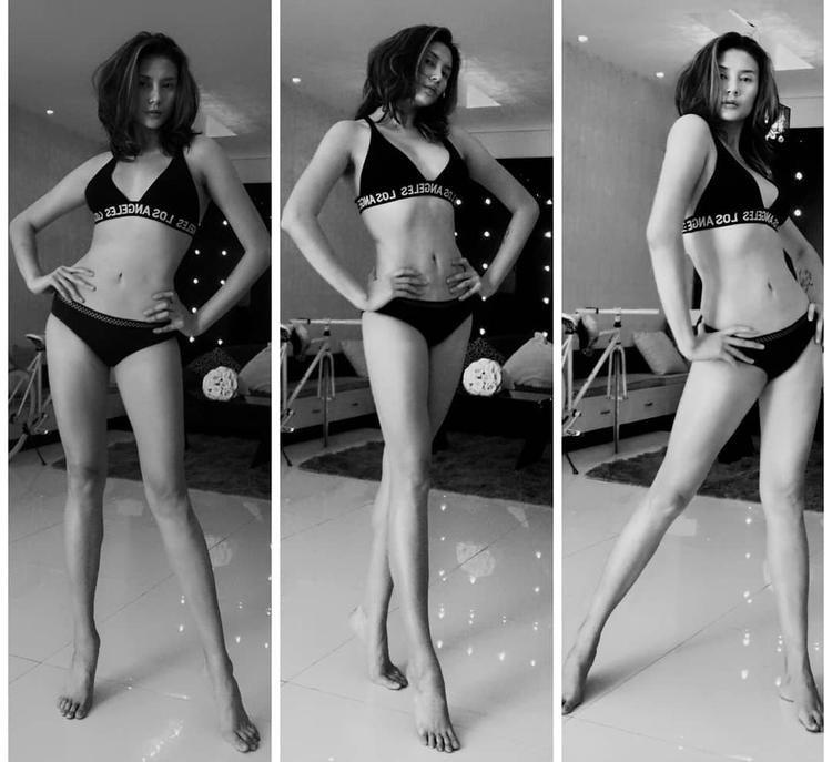 """Ngay sau đó, chân dài họ Võ tiếp tục thả thính fan bằng những hình ảnh bikini mới nhất cùng với cách tạo dáng """"thần sầu""""."""