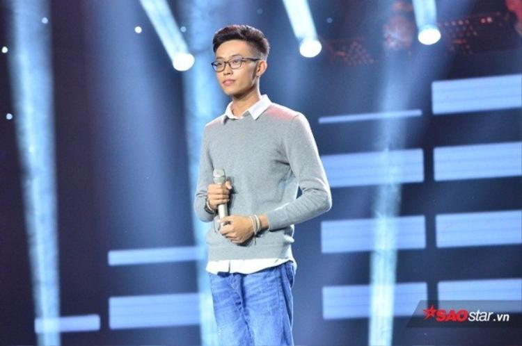 Thí sinh Dương Quốc Huy trên sân khấu vòng Ghi âm - Sing My Song 2018.