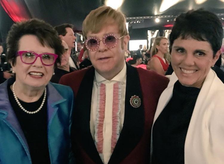 Jean King, Elton John và Ilana Kloss