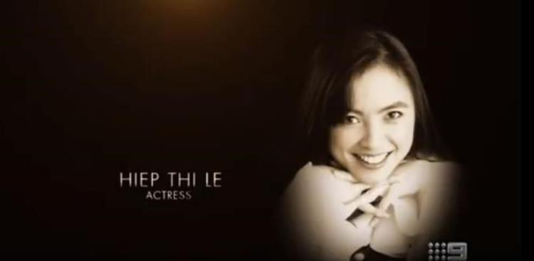 Hình ảnh nữ diễn viên Lê Thị Hiệp được tưởng nhớ tại LTG Oscar lần thứ 90.