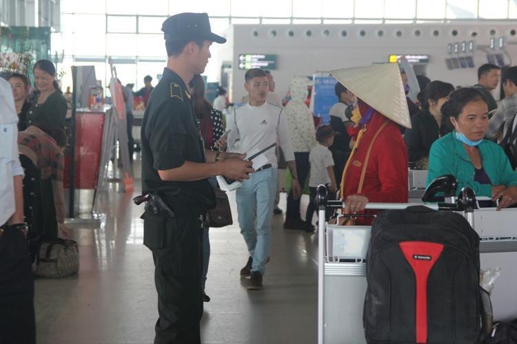 Sân bay Vinh đã tăng cường an ninh vào sáng 5/3